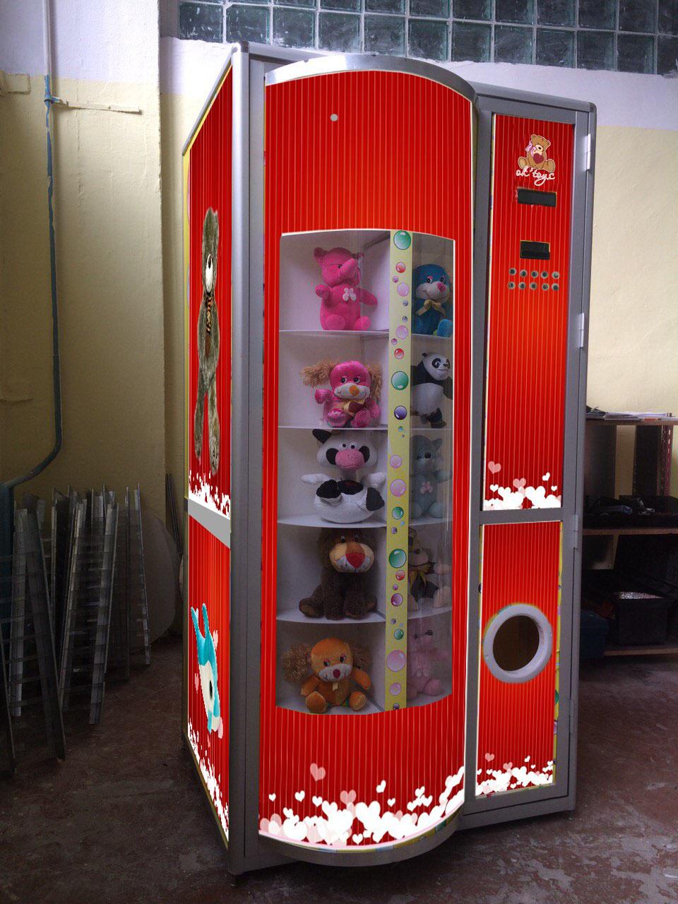 Автомат мягких игрушек
